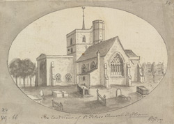 East View of St. Peter's Church, St. Albans